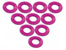 3RACING Sakura Zero Aluminium M3 Flat Washer 0.5mm (10 Pcs) - Pink - 3RAC-WF305/PK