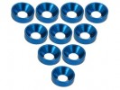 3RACING Aluminium M3 Countersink Washer (10 Pcs) - Blue - 3RAC-WC3/BU