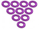 3RACING Aluminium M3 Flat Washer 0.5mm (10 Pcs) - Purple - 3RAC-WF305/PU