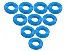 3RACING Aluminium M3 Flat Washer 1.0mm (10 Pcs) - Light Blue - 3RAC-WF310/LB