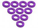 3RACING Aluminium M3 Flat Washer 1.0mm (10 Pcs) - Purple - 3RAC-WF310/PU
