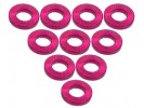 3RACING Aluminium M3 Flat Washer 1.0mm (10 Pcs) - Red - 3RAC-WF310/RE