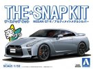 Aoshima 05641 - 1/32 Nissan GT-R (Ultimate Metal Silver) The Snap Kit No.07-D