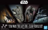 Bandai 5058919 - 1/144 & 1/350 & 1/540 STAR WARS: THE Last JEDI (Clear Vehicle Set)