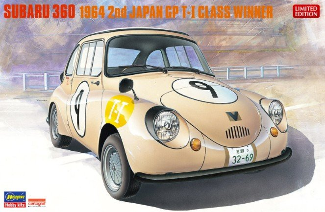 Hasegawa 20322 - Subaru 360 1964 2nd Time Japan GP T-1 Class Winner