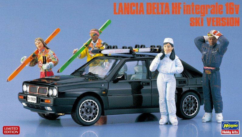 Hasegawa 20384 - 1/24 Lancia Delta HF Integrale 16V Ski Version (4 Figures included)