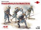 ICM 35696 - 1/35 French Infantry in Gas Masks (1918) (4 figures)