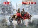 ICM 24017 - 1/24 Model T 1914 Fire Truck With Crew