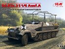 ICM 35102 - 1/35 Sd.Kfz.251/6 Ausf.A German Armoured Command Vehicle