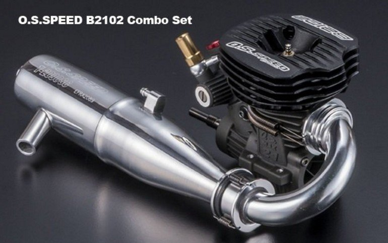 O.S Engine 1A301 - Speed B2102 Combo Set with T2090SC Muffler