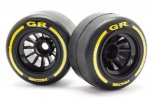 Ride RI-26042 - GR F-1 Tire (Rear/Pre-Glued) High-grip belted Formula-1 pre-glued racing tires (Tire decal included)