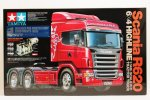 Tamiya #56327Combo - 1/14 RC Scania R620 6x4 Highline Tractor Truck (Blue Edition) Tractor Truck Full Operation Kit Super Combo 56327