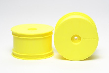 Tamiya #54287 - RC DN01 Rear Dish Wheels - Fluorescent Yellow