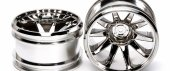 Tamiya #54677 - GF-01 Chrome Plated 10-Spoke Wheels