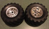 Tamiya #9805618 - Front Tire & Wheel(2) for Wild Willy 58242/57743